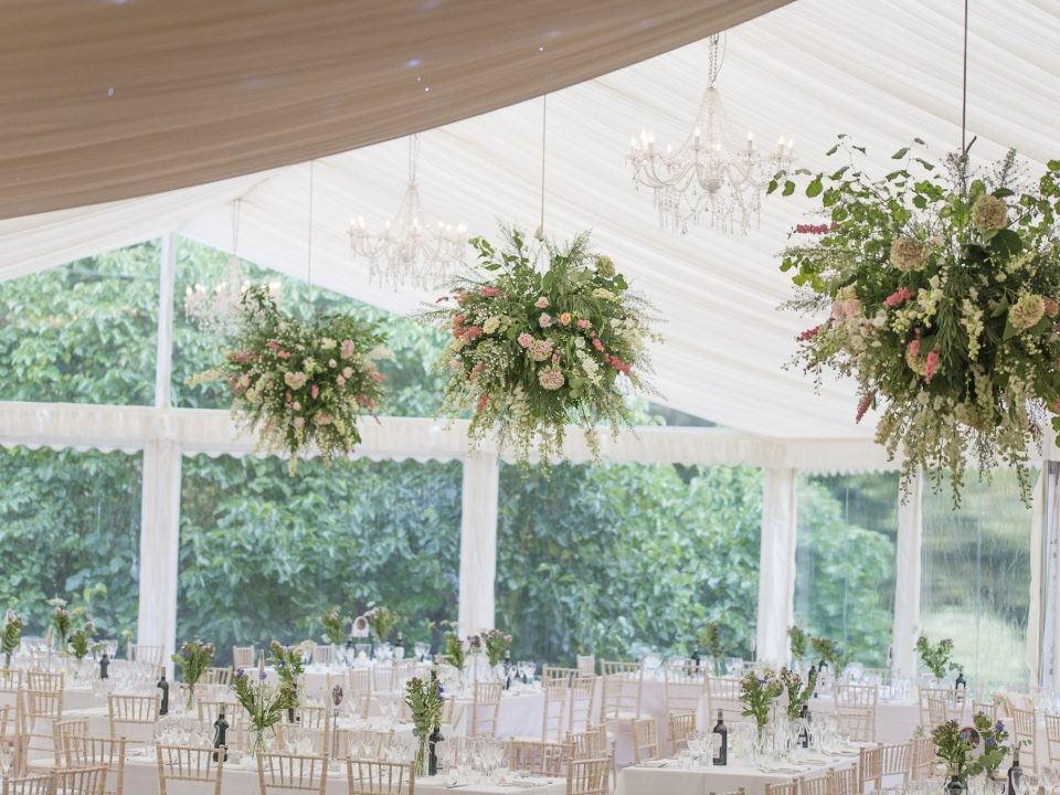 wedding marquee clear gable