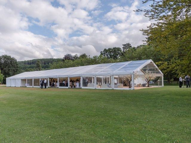 Marquee at Glanusk Estate