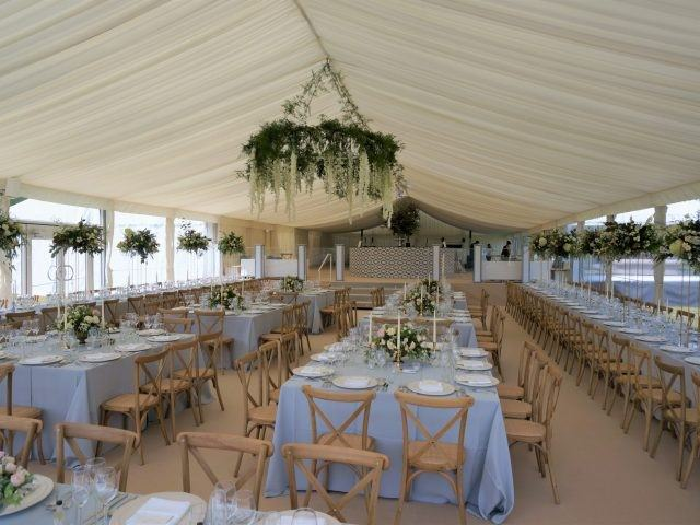 marquee hire crossback chairs
