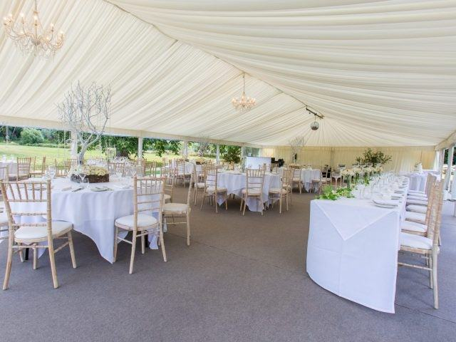 Marquee interior at The Greenway