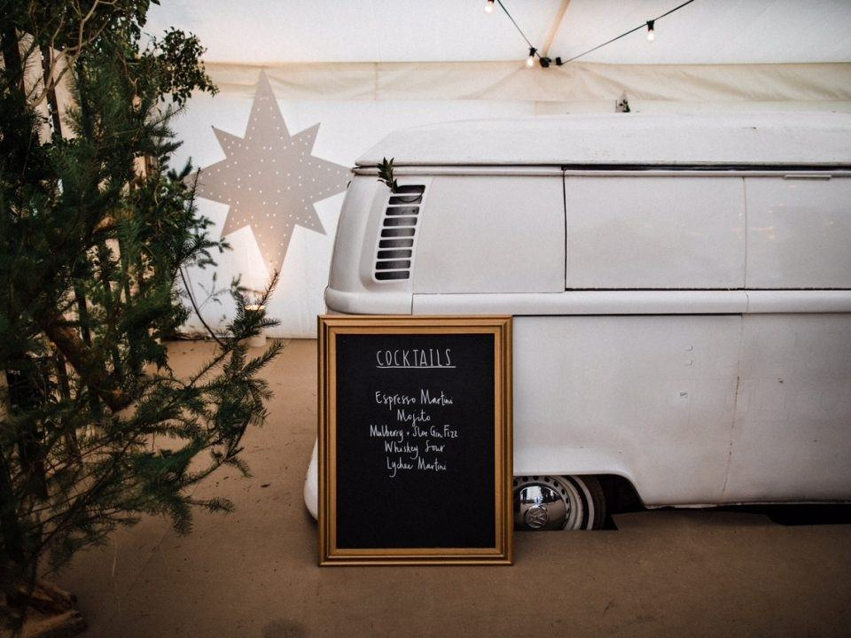 winter marquee wedding