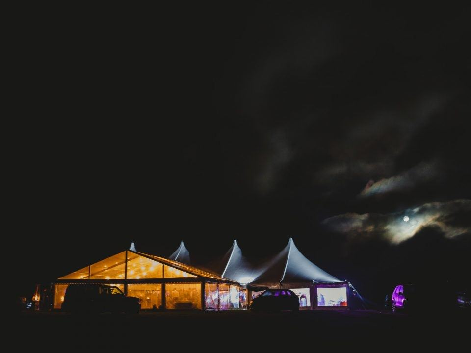 high peak marquee at night