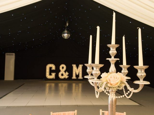 Marquee at Flanesford Priory