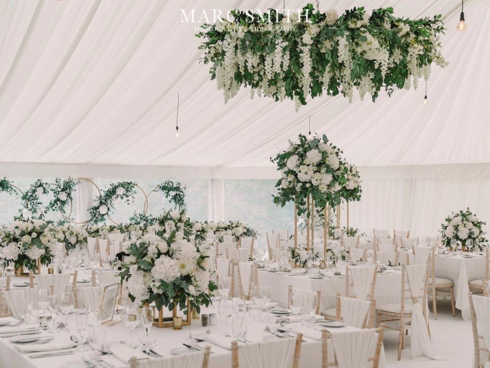 flower ring marquee