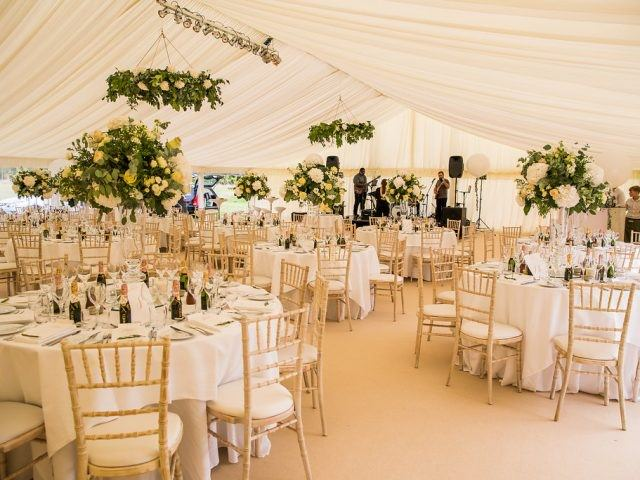 marquee at Barnsley House