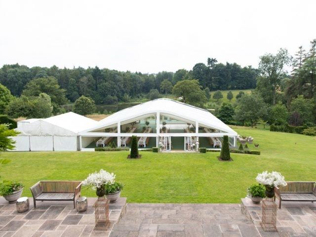 premium marquee curved roof